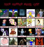Furry Mess`s Horror Movie Cast by FurryMessVSTheCogs