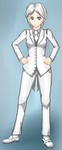 Shiro, the butler (Maid RPG) by ividyon