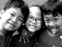 Three Kids at School by sulaimanswaleh