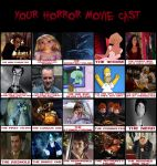 My Horror Movie Cast Meme by Normanjokerwise