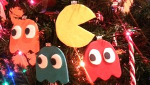Pac Man Christmas Tree Ornaments by NerdEcrafter