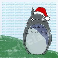 Totoro Christmas card 1 by arteclair