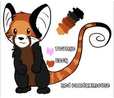 free red panda cross mouse character by IanMR