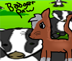 Badgerpaw - Requested by xXBadgerXx by MossySparkle