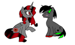 blackstar1127 and nightmare fire by shadowwolfydragon10