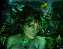 Greeny Mermaid by Le-Regard-des-Elfes