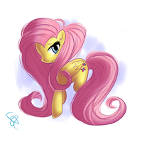 Fluttershy Glamourfly by SarraDarling