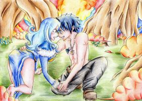 Gray and Juvia by PrincessPokemon