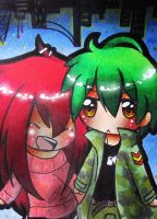 Flippy and Flaky by Naaruuchan
