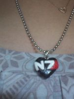 N7 Mass Effect love pendant by Lilbunnywolf28