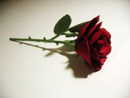 Paper Valentines Day Rose by FortunesFool7