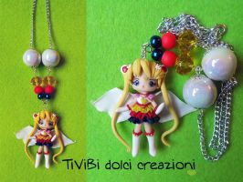 Eternal Sailor Moon OOAK necklace by tivibi