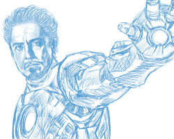 Iron man before by iMii-s