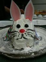 cute easter bunny cake by hexgirl6