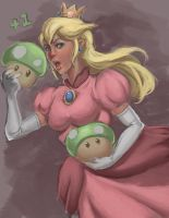 Princess Peach by NocturnalBrush