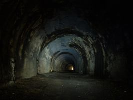 Abandoned railway tunnel by Graid