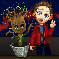 Groot and Starlord Guardians of the Galaxy by Finaz