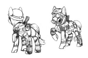 Fallout Pony Sketch Commission by Saij-Spellhart