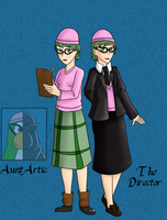 Club Penguin - Aunt Artic/Director[Humanized] by GalaxiasHM