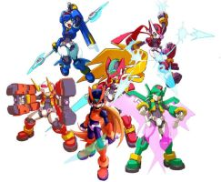 Megaman ZX Models by Spicychicken839
