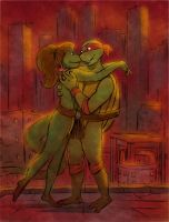 TMNT - Raphael and Mona Lisa by Zimeta