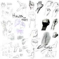 Sketchdump - Hands and feet by Apply-Some-Pressure