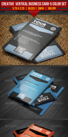 Creative Vertical Business Card-5 Color Set by EgYpToS