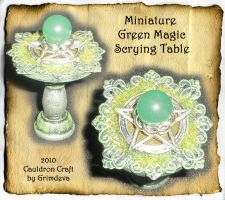 Miniature Green Magic Table by grimdeva