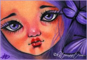 Violet Delights ACEO by Katerina-Art
