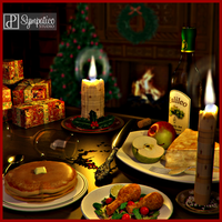 Merry Christmas with the Holly Candle by Estroyer