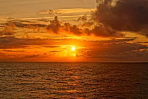 sunset on north sea by Mittelfranke