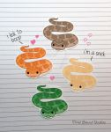 Chibi Corn Snake Stickers and Magnets by pixelboundstudios