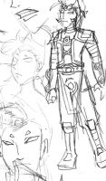 Kor in armor sketch by carrinth