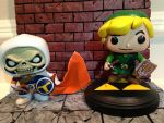 Taskmaster and Link custom funko pops by laz69frog