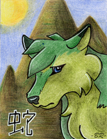 A faint snake .:ACEO:. by BlackRayser
