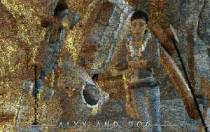 Alyx and Dog mosaic by cozmicone