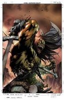 Skaar Son of HULK 4 Color by raultrevino