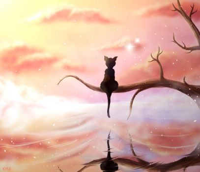 Solitary Cat- Fantasy Contest by Kyle7-7