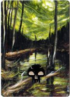 Magic the Gathering Alteration: Swamp 5/2/14 by Ondal-the-Fool