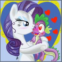 Rarity kiss me! by xWhiteDreamsx