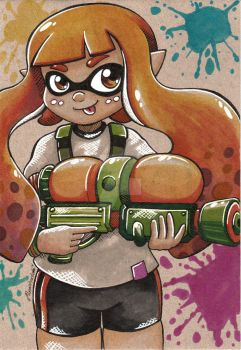Inkling girl by moonshadebutterfly