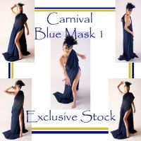 Carnival Blue Mask 1 Exclusive by WhiteWing-Stock-EtAl