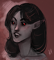 TES: Skyrim: Redka the Dunmer by FlockofFlamingos