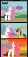 Young Princess Celestia in The First Night by DiegoTan
