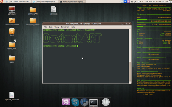 My Conky And Gnome Desktop by xor22h