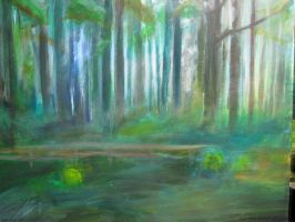 Forest Painting by Iron-Fox