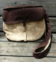 Chocolate and Tan Messenger by Eliea