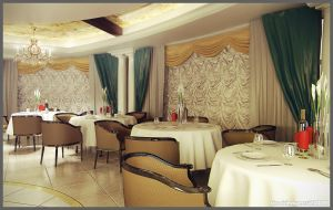 Restaurant interior by doubleagent2005