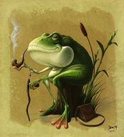 Old Man Frog by Bonekrishna