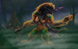 Tauren Druid by Shalie